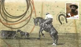 2012  Black History Month  John Ware, Cowboy  Sc 2520 Single From Booklet - Omslagen Van De Eerste Dagen (FDC)