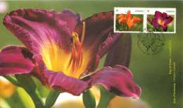 2012  Daylilies  Sc 2529-30  Se-tenant Pair From Booklet - 2011-...