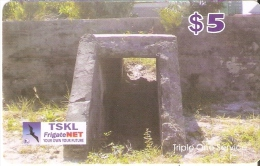 TARJETA DE KIRIBATI DE $5 DE UN REFUGIO (FRIGATE NET)