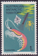 1973. AAT. AUSTRALIAN ANTARCTIC TERRITORY. AIRCRAFT & FOOD CHAIN. 1c. PLANKTON. MUH. - Australian Antarctic Territory (AAT)