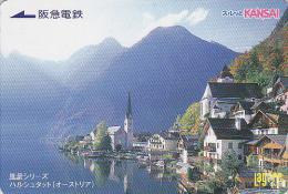 Carte Prépayée Japon  - Site AUTRICHE - HALLSTATT  SALZKAMMERGUT - AUSTRIA Rel Japan Prepaid Lagare Card - Paysages