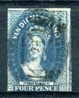 TASMANIA 1855 Wmk Star - Yv.5 (Mi.5, Sc.6) Used (VF) - 1853-1912 Tasmania