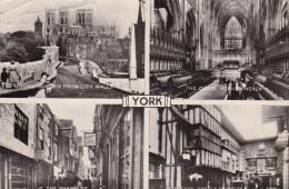 York - Minster From City Waals - Minster - Shambles - Kirkgate Cstle Museum (1962)