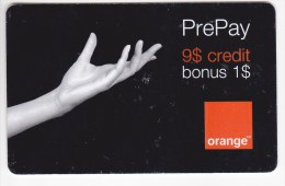 Romania ,  Prepaid Phonecard -  Orange  , 9$ ,  Used - Romania