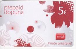 Serbia ,  Prepaid Phonecard   ,5 Euro ,  Used - Yugoslavia