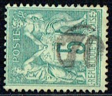 Oblitération Du Jour De L´An - Cachet De Facteur 70 Chiffres Gras - 1876-1898 Sage (Type II)