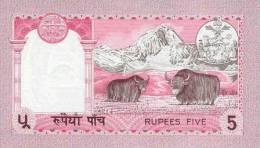 NEPAL P. 30a  5 R 1974 UNC (3 Billets) - Nepal
