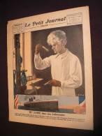 ### le petit journal illustr�, marie curie dans son laboratoire, 17/07/1921, port france 1.95 e