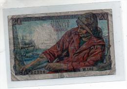 -  BILLET De 20 Francs Pêcheur - 29 1 1948  - Plié - 562 - 1871-1952 Circulated During XXth
