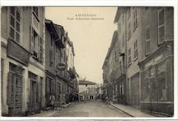Carte Postale Ancienne Ambérieu En Bugey - Rue Amédée Bonnet - Autres Communes