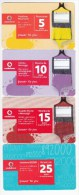 Italy ,  Phonecard Prepaids  ,  Set=4 Prepaids, Used - Italy