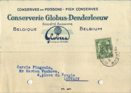 Denderleeuw :  Conserverie Globus ( Zie Scans ) - Denderleeuw