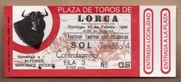 TOROS - Entrada Corrida De Toros En LORCA 1988 - Tickets - Entradas