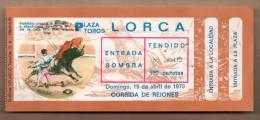 TOROS - Entrada Corrida De Toros En LORCA 1979 - Tickets - Entradas
