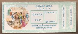 TOROS - Entrada Corrida De Toros En LORCA 1975 - Tickets - Entradas