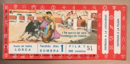TOROS - Entrada Corrida De Toros En LORCA 1973 - Tickets - Entradas