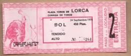 TOROS - Entrada Corrida De Toros En LORCA 1978 - Tickets - Entradas