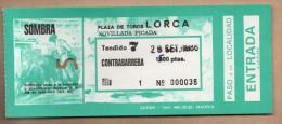 TOROS - Entrada Corrida De Toros En LORCA 1986 - Tickets - Entradas