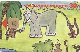 Finland - Sonera D Series Elephant, 1994, 60.000ex, Used