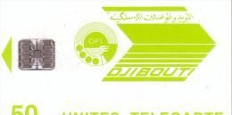 DJIBOUTI LOGO 50U SC7 N° ROUGES UT LUXE - Djibouti