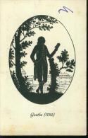 Scherenschnitt Silhouette Goethe 1782 - Silhouettes