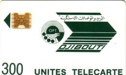 DJIBOUTI LOGO 300U SC4 OB N° 8715 IMPACTS + COURONNE EVIDEE UT RARE - Djibouti