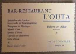 RARE+++BAR RESTAURANT L´OUTA.LA COLMIANE (06).BEBERT ET ALICE.TBE. - Publicidad