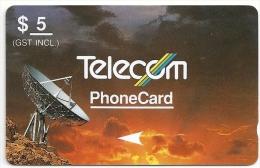 New Zealand - Violet & Orange, Standard Satellites, 3NZLB, 1990, 850.000ex, Used - Neuseeland