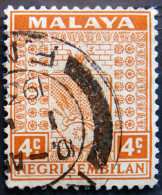 NEGRI SEMBILAN 1935 4c Arms USED - Negri Sembilan