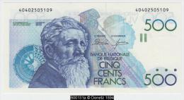 B00131 1 Billet 500 FB NBBB-85 Dassin Godeau UNC - [ 2] 1831-... : Royaume De Belgique