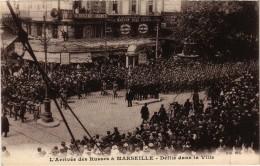 Marseillel'arrivée Des Russes à Marseille-Défilé Dans La Ville( Très Très   Rare  ) - Non Classés