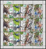 Belarus 2014 Naliboki Sanctuary Fauna Birds Butterfly Insects Mini Sheet Shtl Klbg MNH - Wit-Rusland