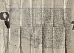 Nantes N.O. Et N.E. - Carroyage Kilométrique - Projection Lambert II Zone Centrale - Type 1889 - 2 Cartes - Carte Geographique
