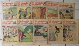 10 Revues La Semaine De Suzette 1950. Manon Iessel, Sels, Pécoud, Salcedo, Desrieux. A Redécouvrir - La Semaine De Suzette