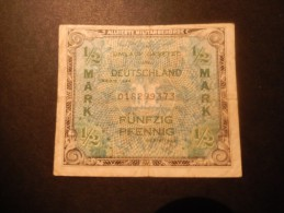 Germania 1/2 Mark 1944 BB - [ 5] 1945-1949 : Occupation Des Alliés