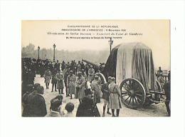 CPA MILITARIA Transfert Du Coeur De Gambetta - Patriotic