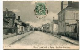 CPA 77 CHEVRY COSSIGNY ENTREE COTE DE GRETZ 1907 - Sonstige Gemeinden