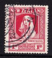 New Zealand 1929 Health Nurse - Anti TB Fund Used - See Notes - 1907-1947 Dominion