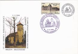 5675A   Roman-Catholic Church BREZON - BRESONDORF 2004 SPECIAL COVER ,ROMANIA. - Lettres & Documents