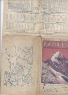 B1360 - CARTINA ORARI FERROVIE - TRAMVIE - PIROSCAFI - ALPI RETICHE VALTELLINA Ed.Fiorentini Primo '900/ALBERGHI - Mappe