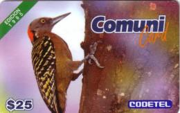 DOMINICAINE COMUNI CARD OISEAU VOGEL BIRD 1995 FIRST ISSUE 1ERE CARTE PAYS 25$ UT