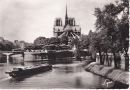 Francia--Paris--1966-- Abside De La Cathedrale Notre-Dame Et La Seine Entre L'Ille Saint-Louis Et L'Ille De La Cite-Cach - Notre Dame De Paris