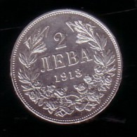 BULGARIA - 1913 - 2Lv Silver - VF+ - Bulgaria
