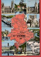 Carte Contour Géographique Du Département De La HAUTE VIENNE - Unclassified