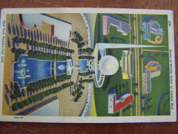 CPA. 56W NEW YORK WORLD ' S FAIR 1939 MODEL OF MIDDLE SECTOR OF CENTRAL MALL Cooper Broadway - Expositions