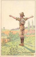 JOB - Les Signaleurs (scoutisme) (illustrateur) (Pub Belle Jardinière Paris) - Illustrateurs & Photographes