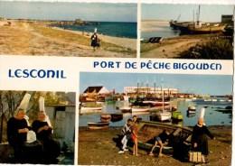 C P M---29----LESCONIL--le Port Et Ses Plages--voir 2 Scans - Lesconil