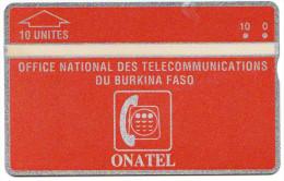 BURKINA FASO REF MV CARDS BKF-01  10 U  N° 105H  Année 1991 MINT - Burkina Faso