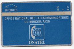 BURKINA FASO REF MV CARDS BKF-02  20 U  N° 105H  Année 1991 MINT - Burkina Faso