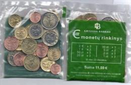 Starter-Paket New 2014/2015 Litauen Stg.40€ Einführung EURO 23xMünzen Vilnius With Sets 1C-2€ Coin Of Republik Lithuiana - Lituania